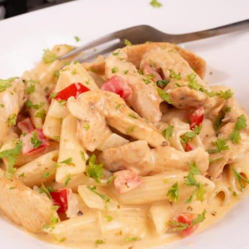 Easy Pasta Recipe – Best Homemade Cajun Chicken Pasta – Dinner – Lunch – Quick – Simple