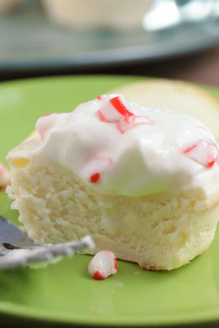 Candy Cane Cheesecake Cups