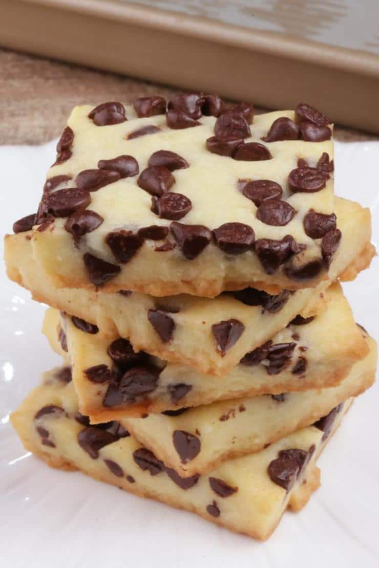 5 Ingredient Cookies – BEST Chocolate Chip Shortbread Cookie Bites – Easy – Snacks – Desserts – Party Food