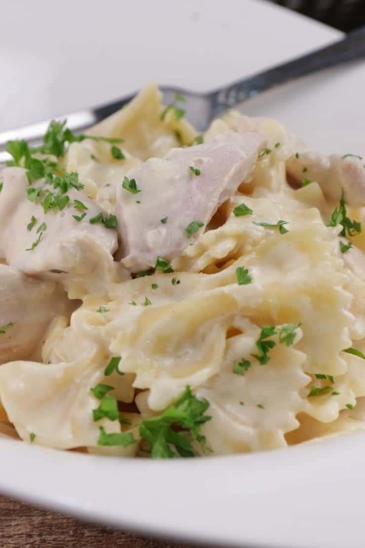 Easy Pasta Recipe – Best Homemade Creamy Garlic Parmesan Chicken Pasta – Dinner – Lunch – Quick – Simple