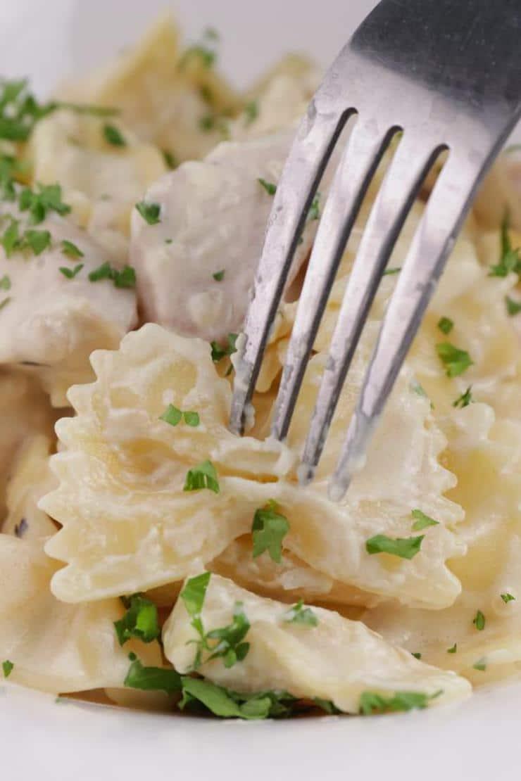 Creamy Garlic Parmesan Chicken Pasta
