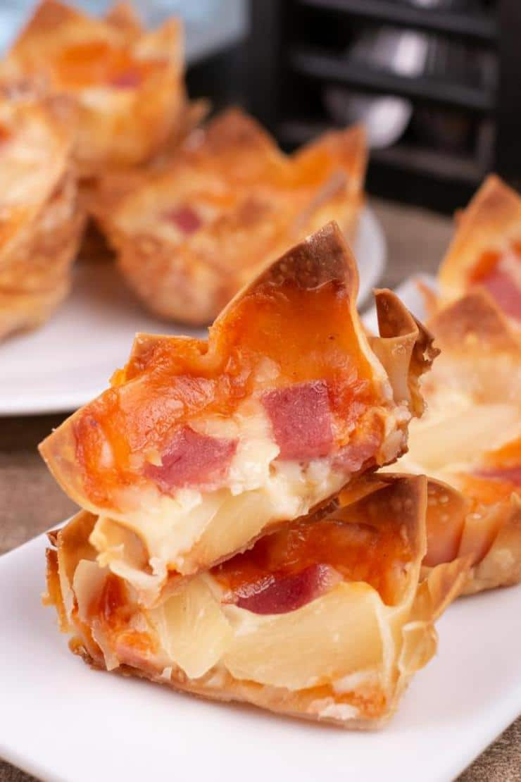 Ham And Pineapple Pizza Wonton Wrappers