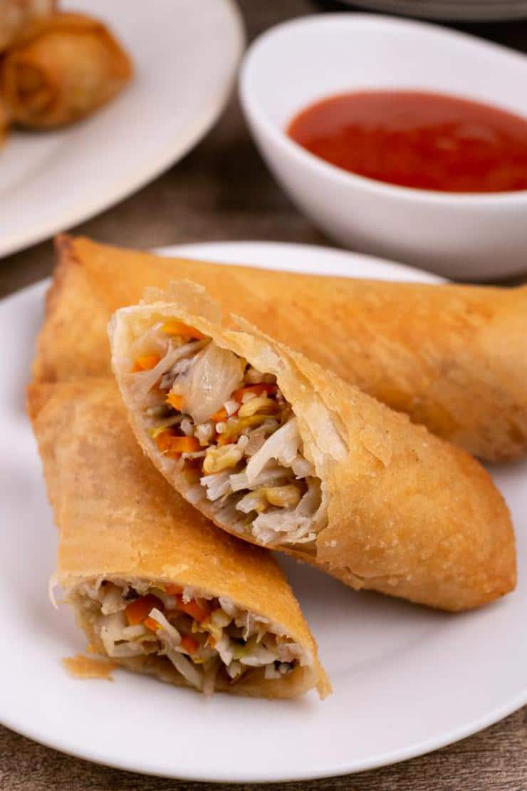 Easy Vegetable Egg Rolls – Best Homemade Egg Roll Recipe – Finger Food - Appetizers – Snacks - Party Food – Quick – Simple