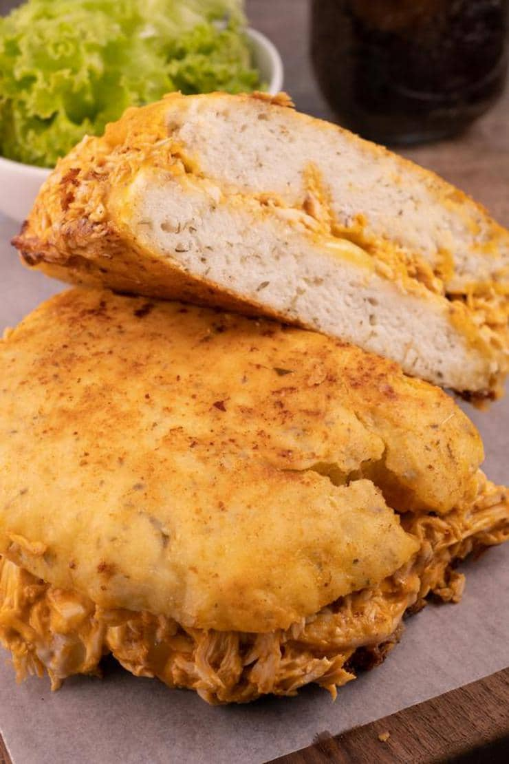 Easy Buffalo Chicken Grilled Cheese Sandwich – Best Homemade Focaccia Bread Recipe – Lunch - Dinner - Appetizers – Quick – Simple