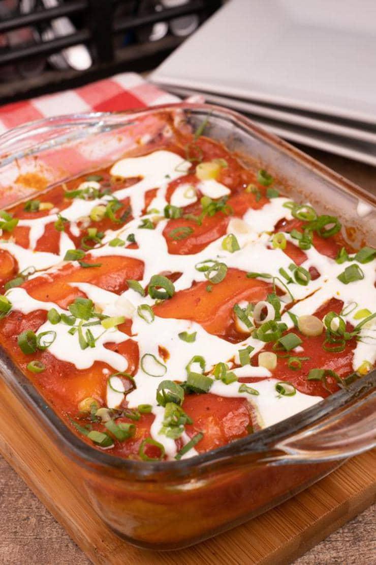 Easy Buffalo Chicken Enchiladas