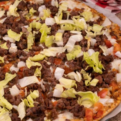 Easy Cheeseburger Pizza – Best Ground Beef Cheeseburger Pizza Recipe – Dinner - Lunch - Appetizers – Party Food – Quick – Simple