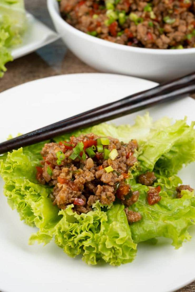 BEST Lettuce Wraps - Easy Copycat PF Changs Chicken Lettuce Wraps Recipe – Asian – Dinner - Lunch - Appetizers