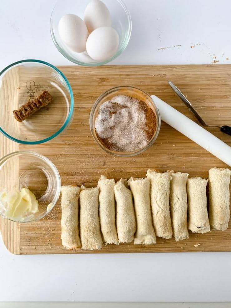 Easy French Toast Roll Ups_