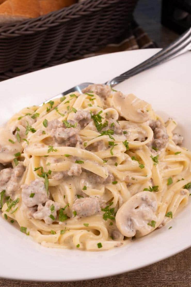 Easy Italian Sausage Pasta – Best Homemade Creamy Italian Sausage Pasta Recipe – Dinner – Lunch – Quick – Simple