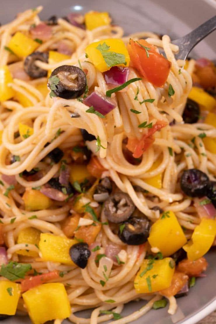 Easy Mediterranean Diet Olive Oil Pasta