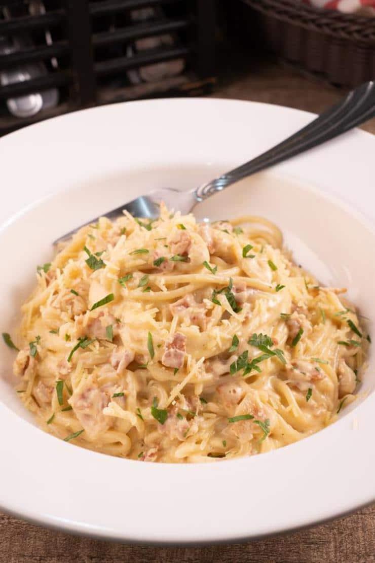 Easy Spaghetti Carbonara Pasta – Best Homemade Spaghetti Carbonara Recipe – Dinner – Lunch – Quick – Simple