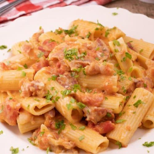 Easy Vodka Sauce Pasta – Best Homemade Vodka Sauce Rigatoni Pasta Recipe – Dinner – Lunch – Quick – Simple