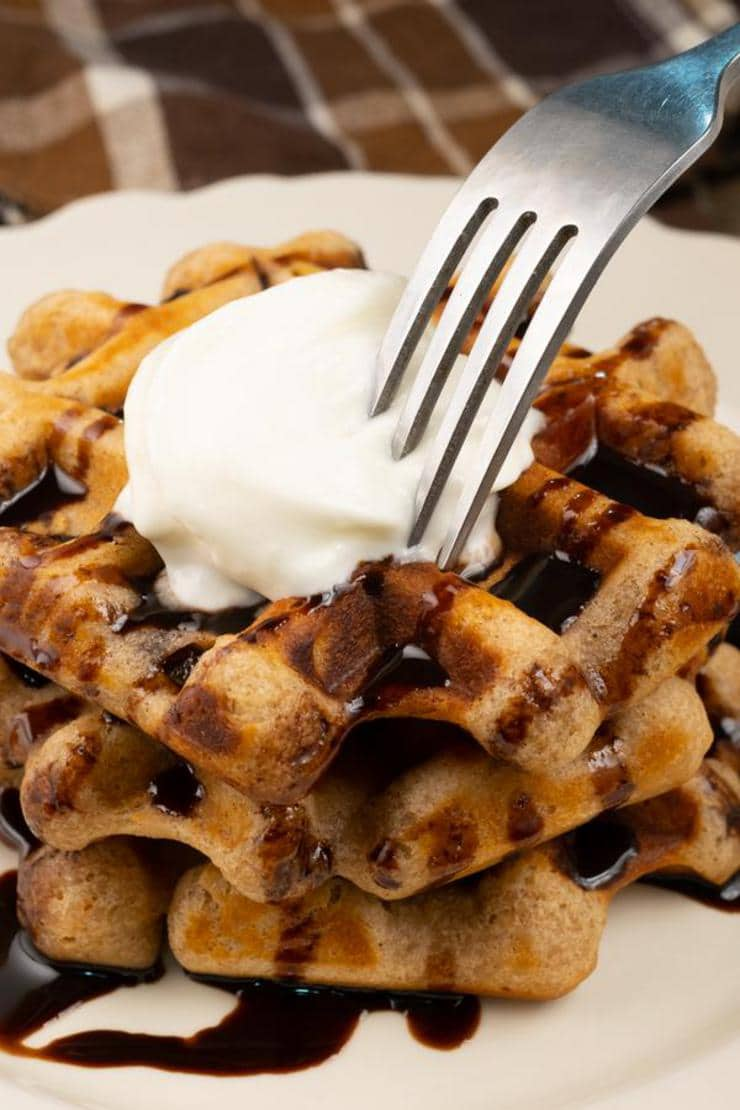 Peanut Butter Chocolate Waffles