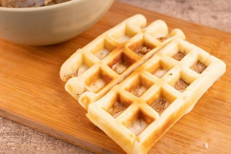 Easy Cinnamon Roll Waffle Sticks