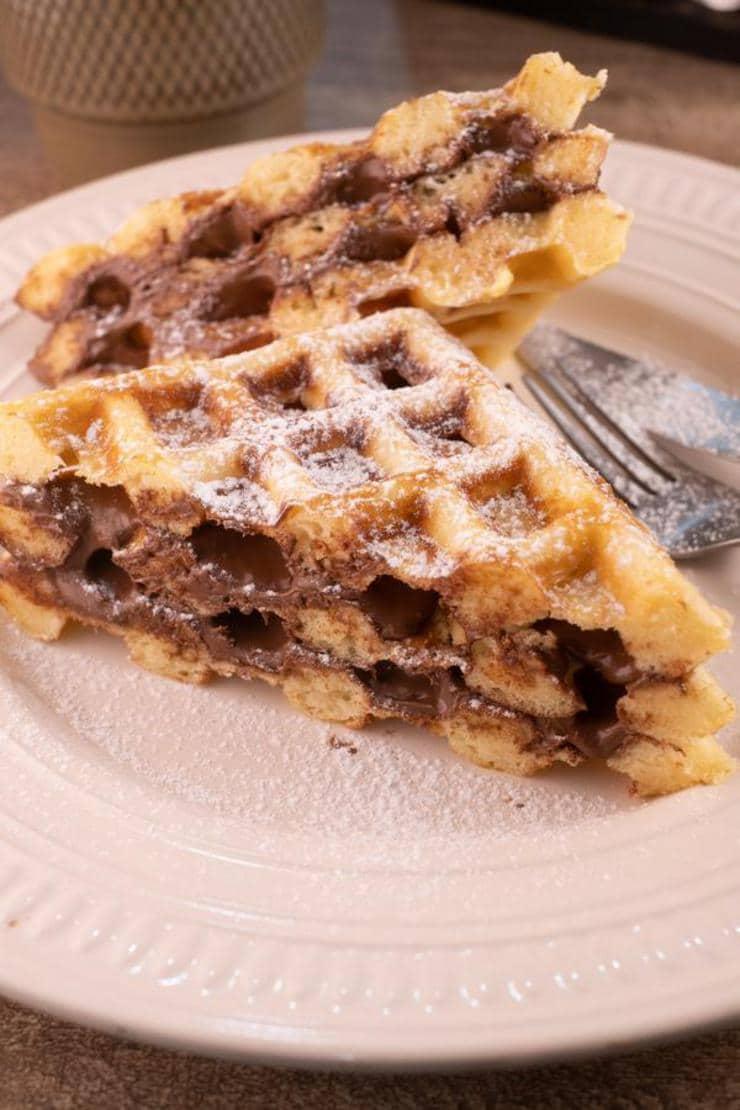 Easy Nutella Stuffed Waffles