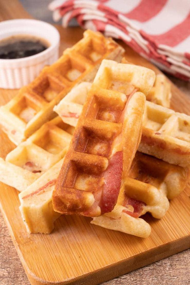 Easy Waffle Bacon Sticks