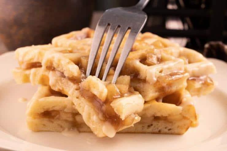 Easy Apple Fritter Waffle Sticks