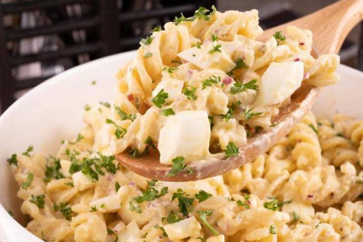 Easy Deviled Egg Pasta Salad