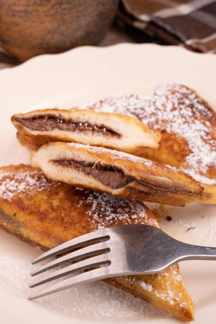 {Easy} French Toast – Best Homemade Stuffed Nutella French Toast Pockets Recipe – Breakfast – Dinner – Snacks – Desserts – Quick – Simple