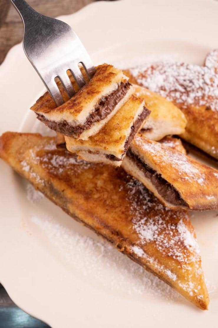 Easy Nutella French Toast Stuffed Pockets