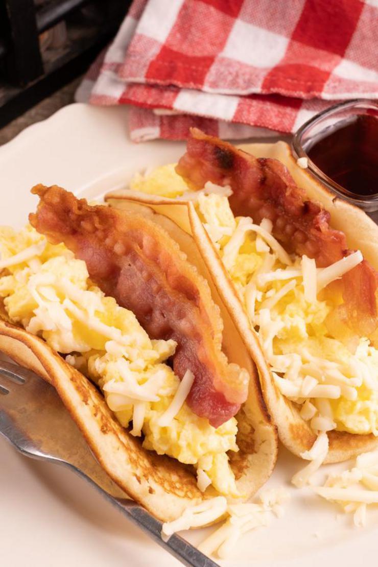 Easy Pancake Breakfast Tacos