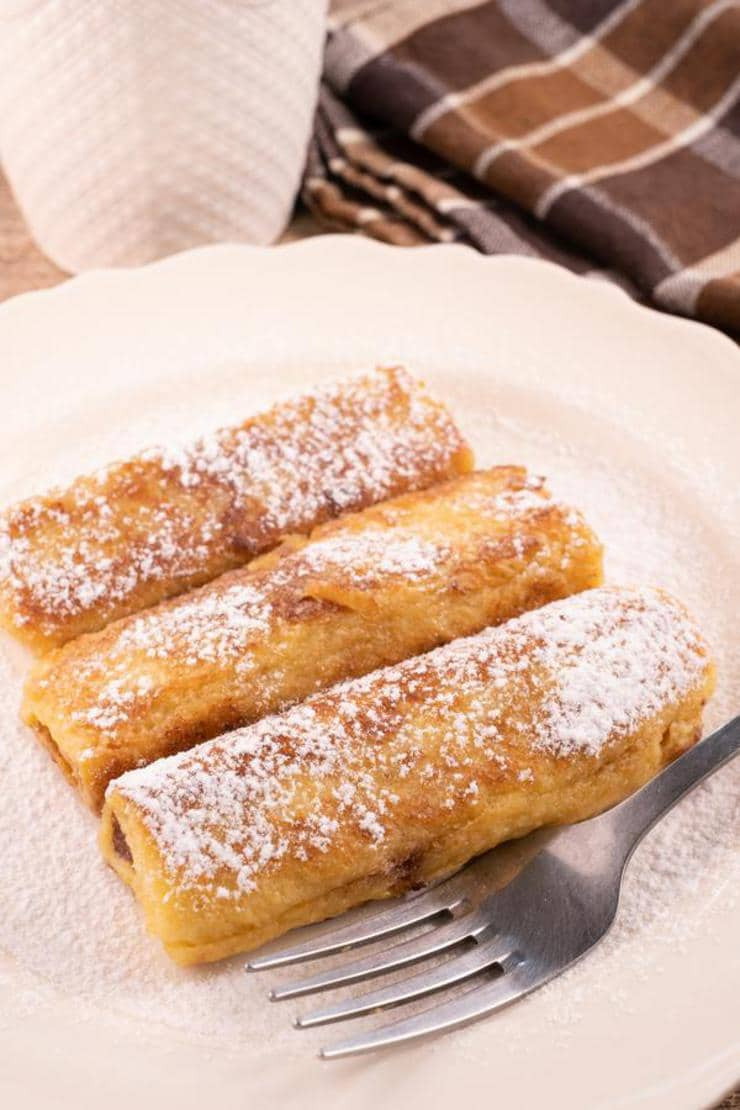 Easy Peanut Butter Chocolate French Toast Roll Ups
