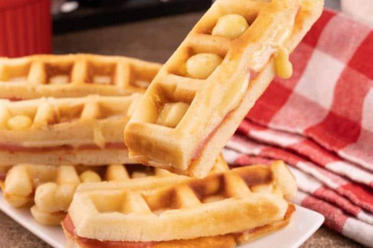 Easy Pizza Waffle Sticks
