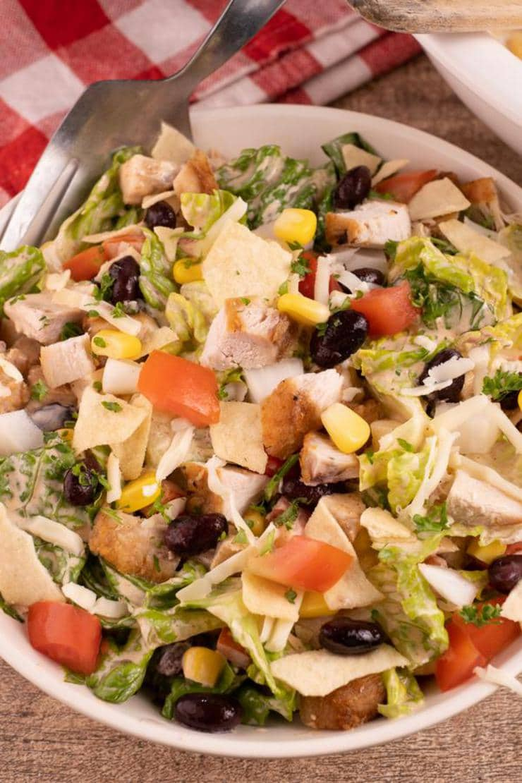 Easy Salad – Best Homemade Tex Mex Chicken Chopped Salad Recipe – {Easy} Lunch – Dinner – Snacks – Side Dishes – Quick – Simple