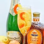 Sparkling Crown Peach Cocktail Alcohol Drinks Recipe