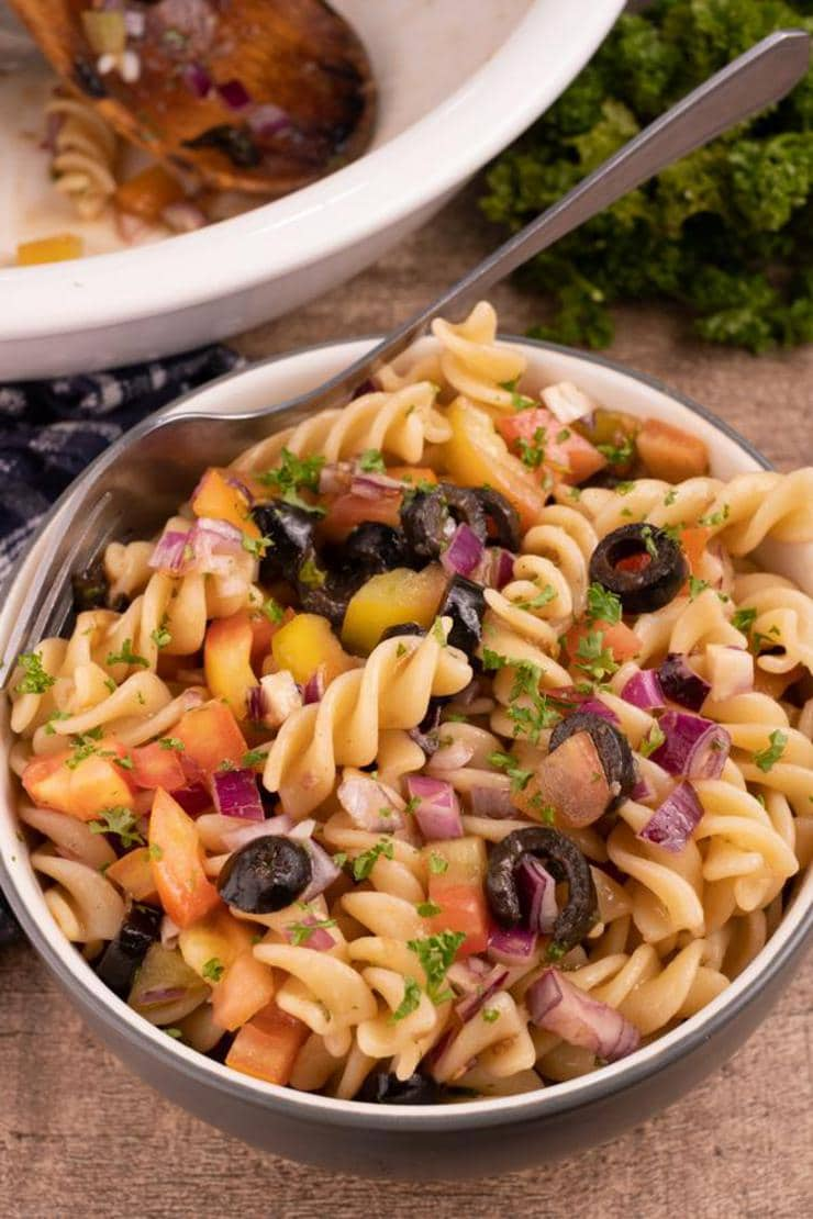 Easy Pasta Salad – Best Homemade Bruschetta Pasta Salad Recipe – {Easy} Lunch – Dinner – Snacks – Side Dishes – Quick – Simple