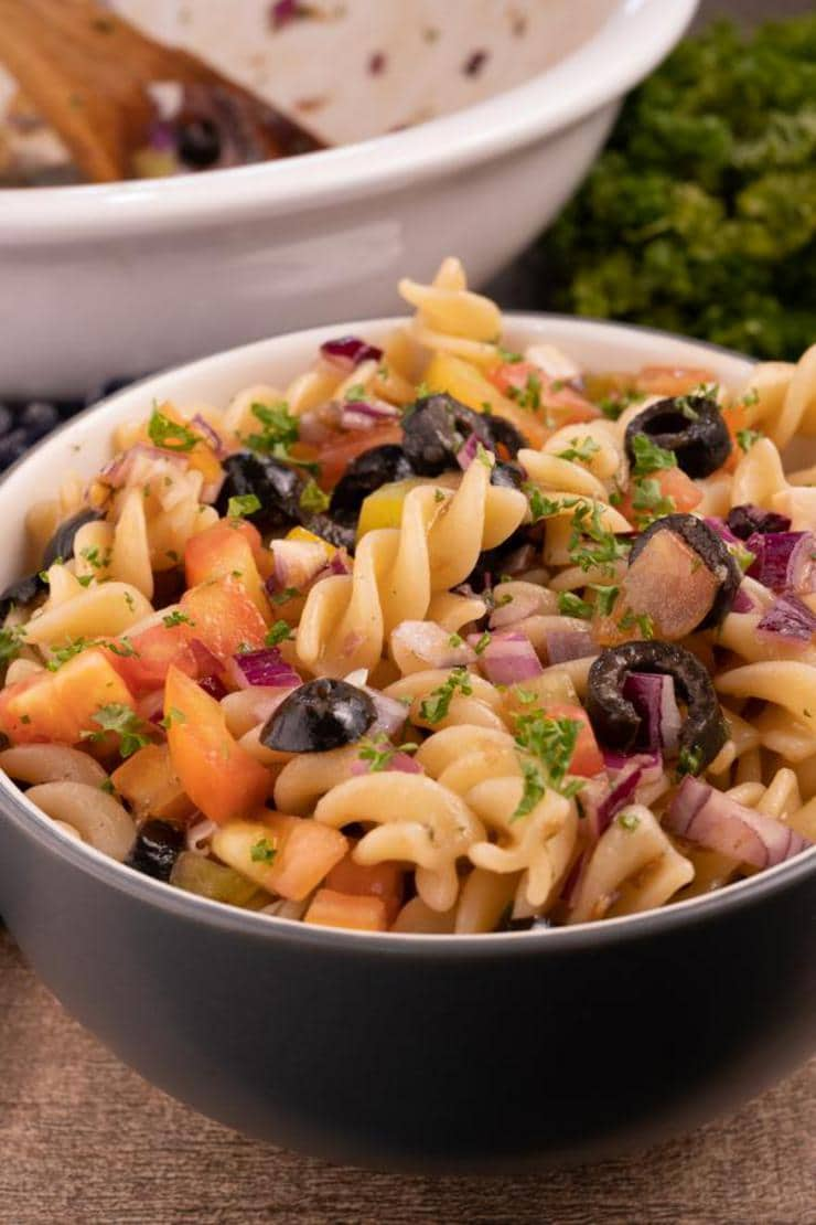 Easy Bruschetta Pasta Salad