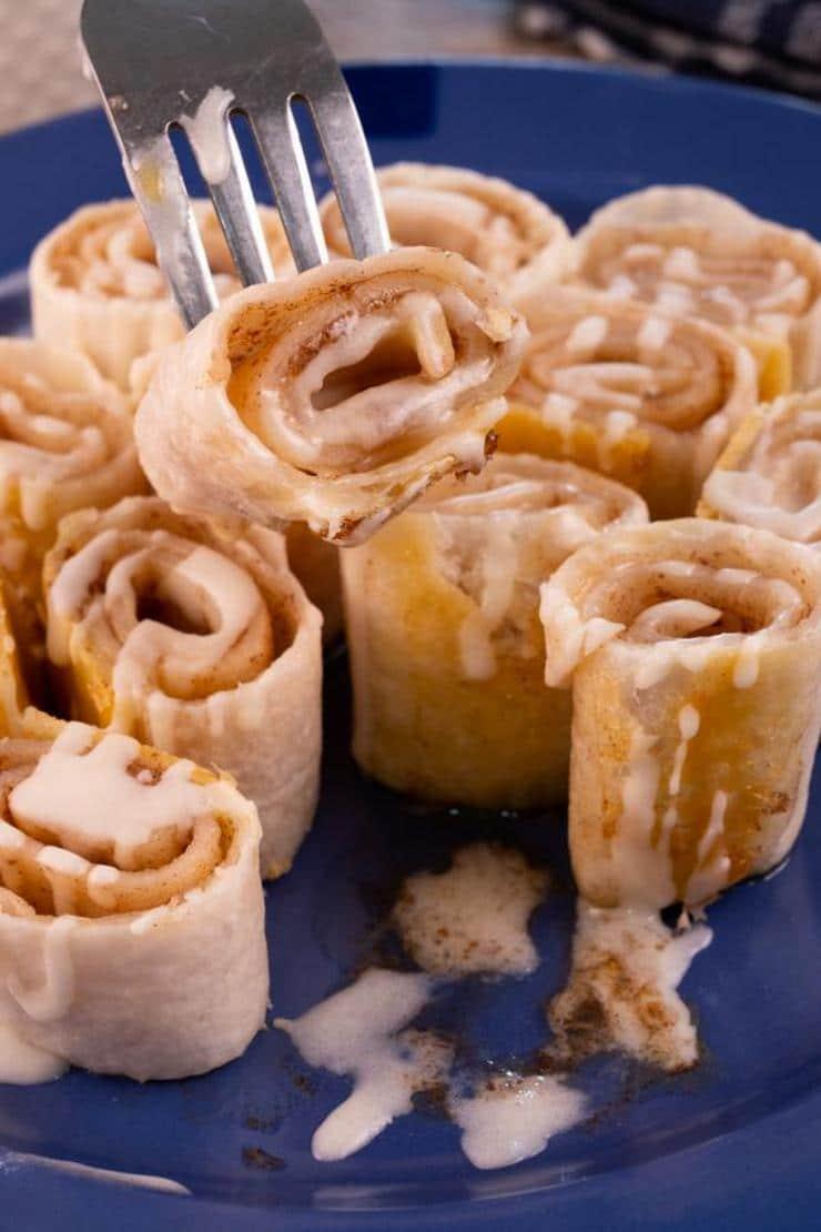 Easy Cinnamon Roll Tortilla Roll Ups
