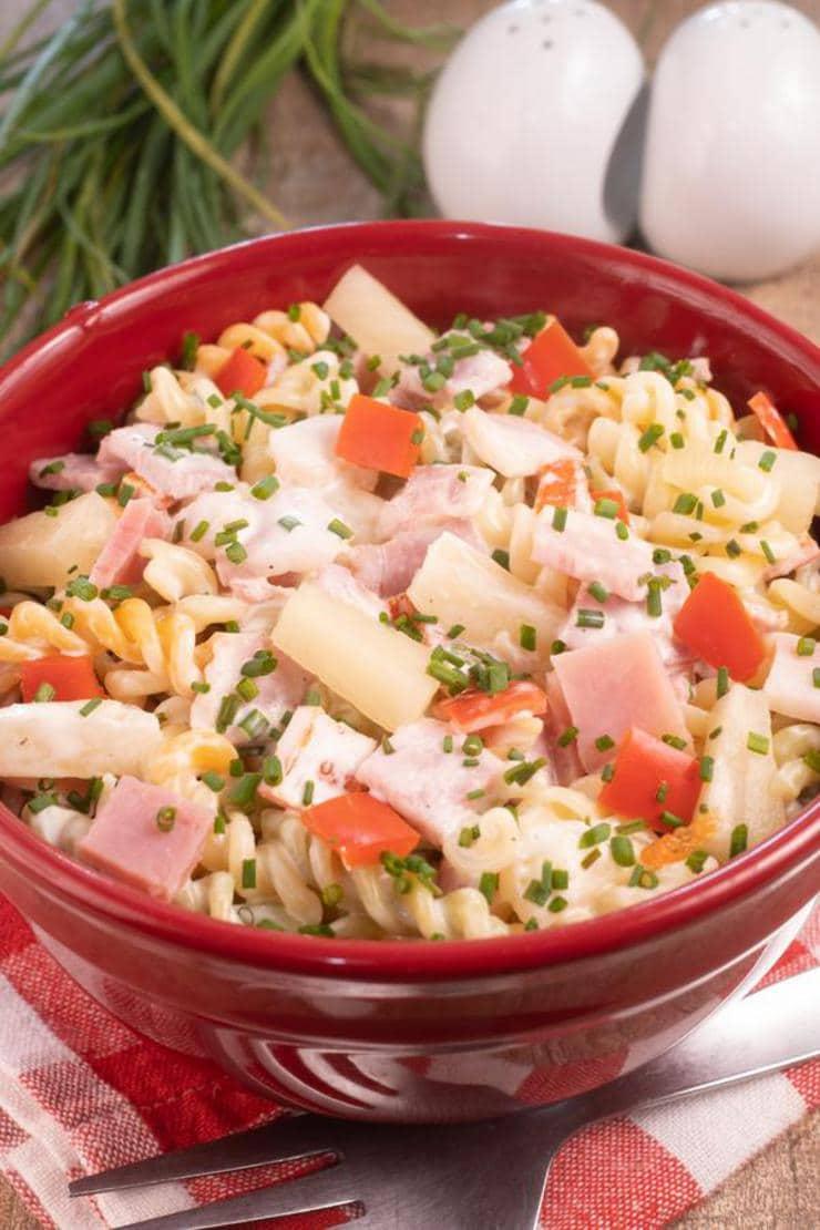 Easy Pasta Salad – Best Homemade Hawaiian Pasta Salad Recipe – {Easy} Lunch – Dinner – Snacks – Side Dishes