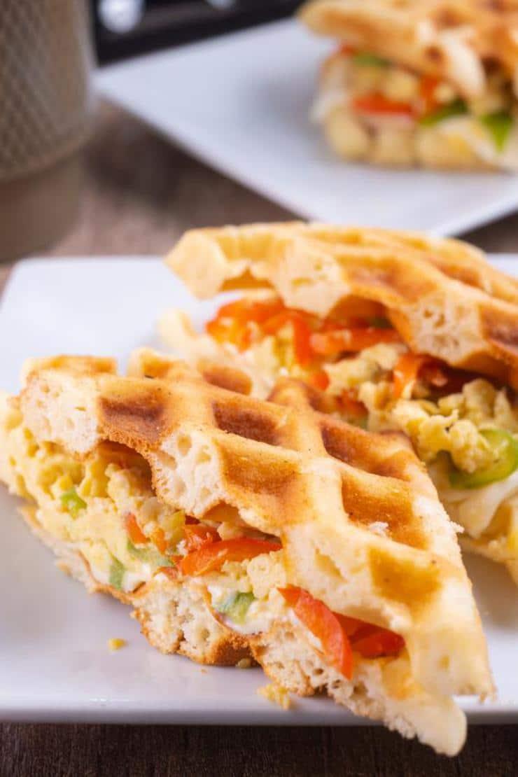 Easy Breakfast Stuffed Waffles
