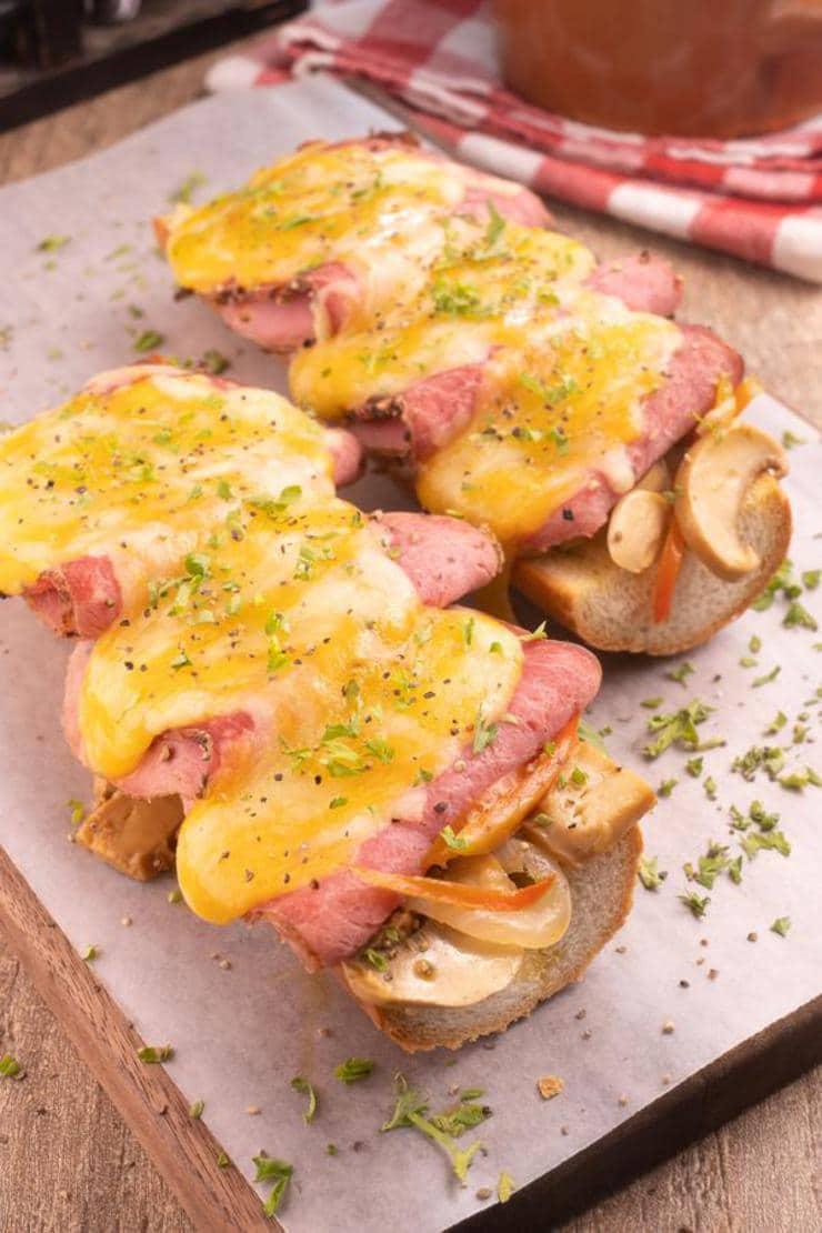 Easy French Bread Garlic Philly Cheesesteak