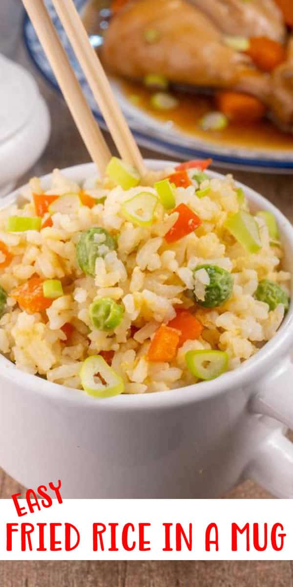 Best Homemade Fried Rice In A Mug Recipe – {EASY} Microwave Lunch – Dinner – Side Dish