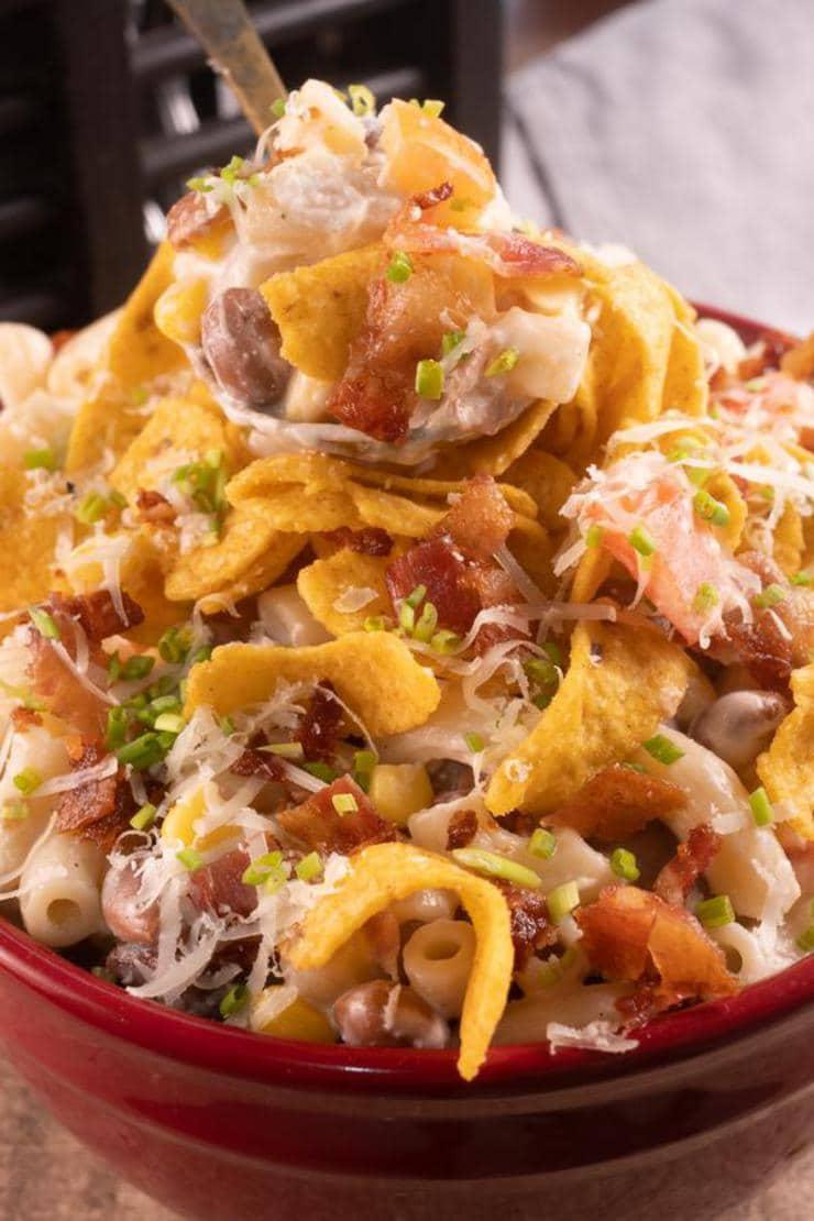 Easy Fritos Bacon Ranch Pasta Salad