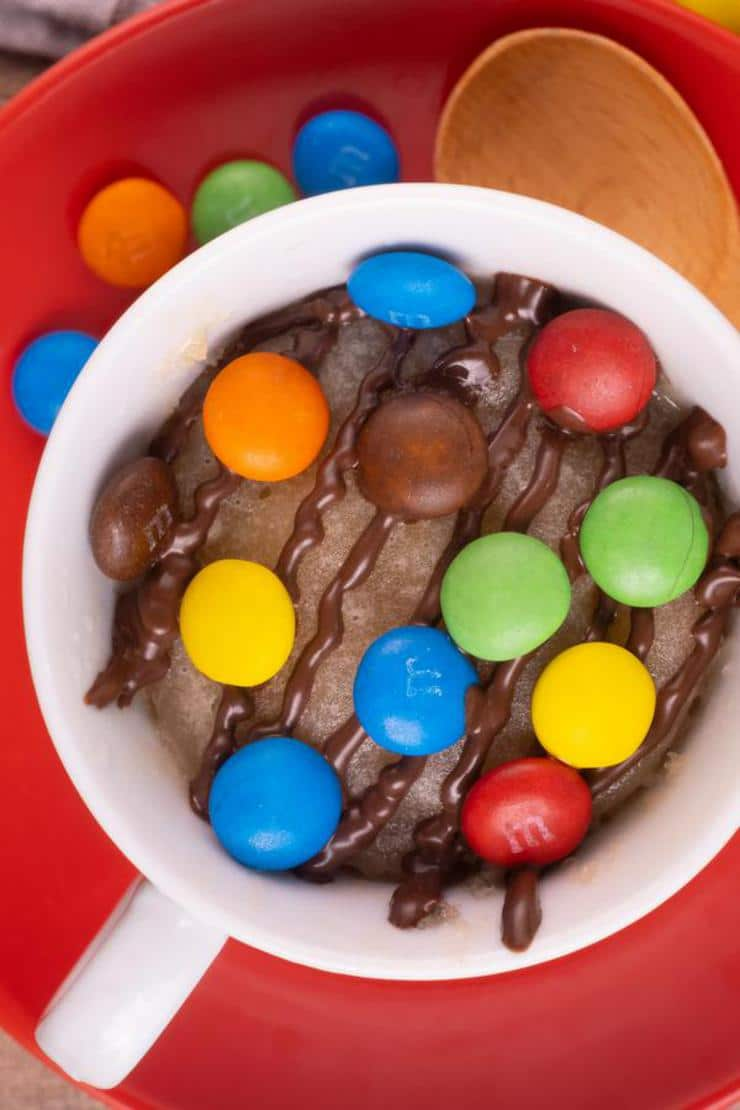 Easy M And M Cookie Mug Cake