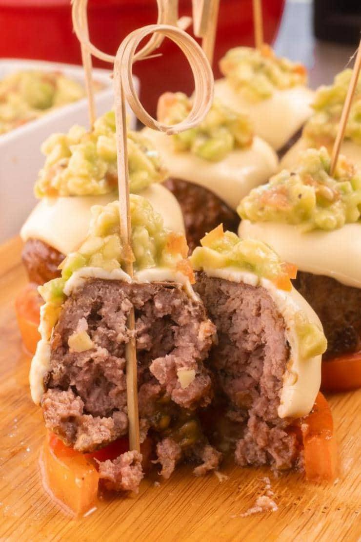 Easy Mini Guacamole Burger Bites