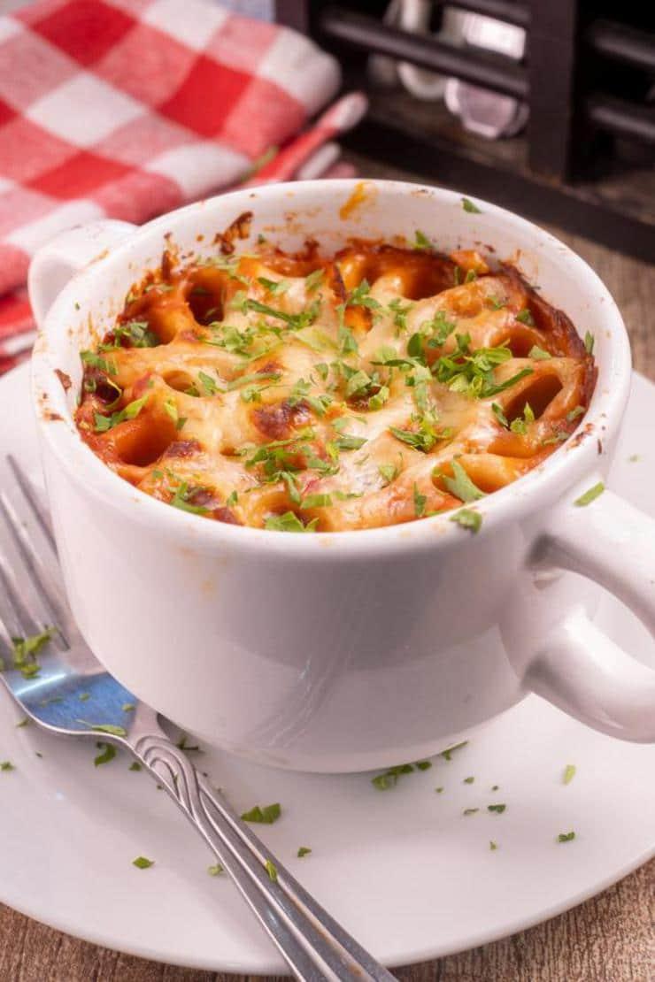 Easy Rigatoni Pasta In A Mug
