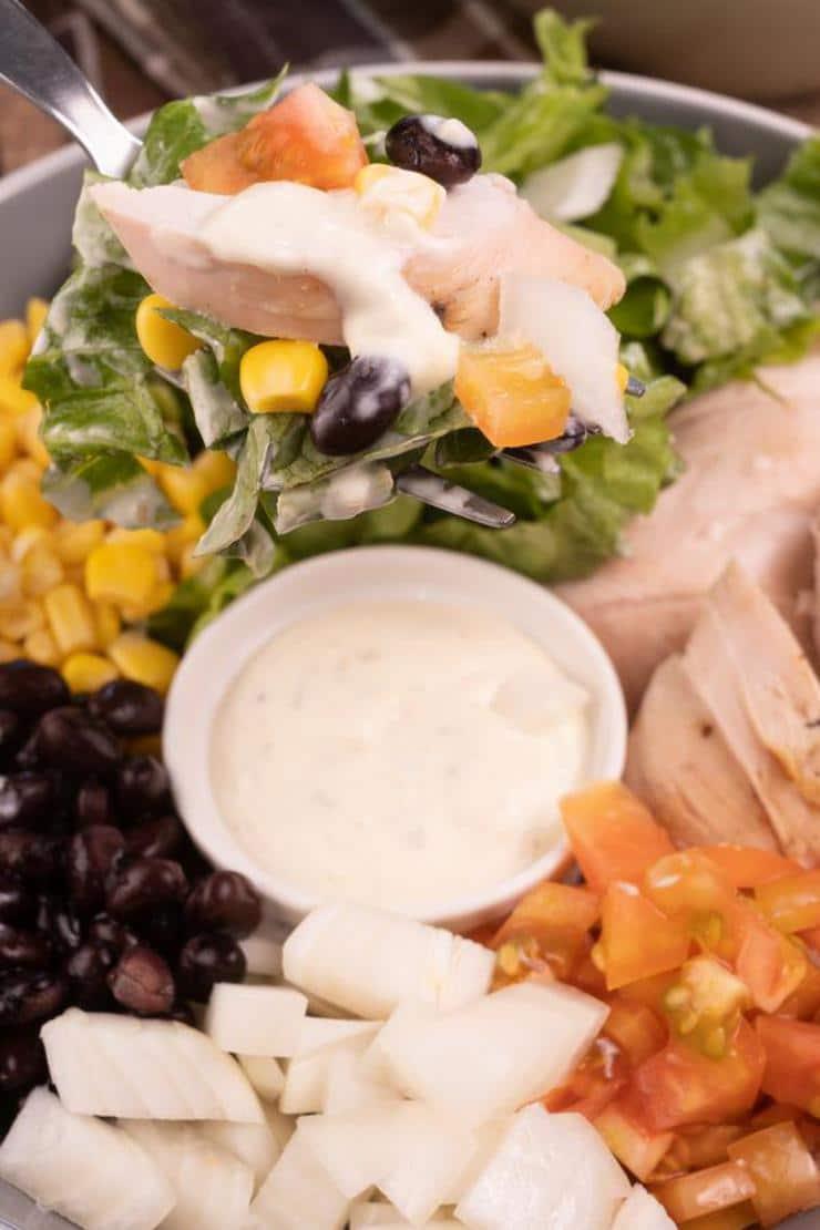 Easy Southwestern Grilled Chicken Salad