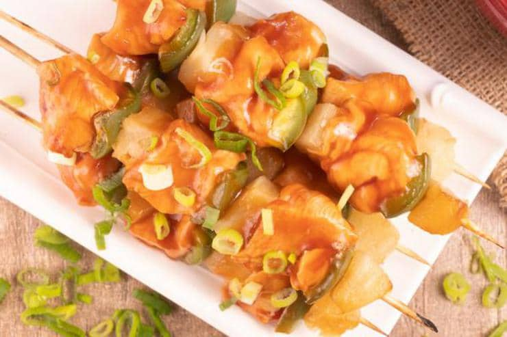 Easy Sweet And Sour Chicken Hawaiian Skewers