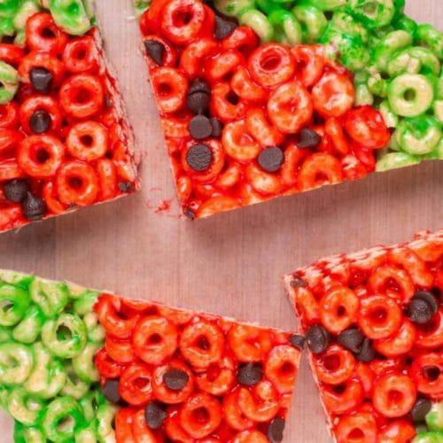 Easy Cheerios Treats – Best Watermelon Cheerios Treats Recipe – Desserts – Snacks – Kids Party Food