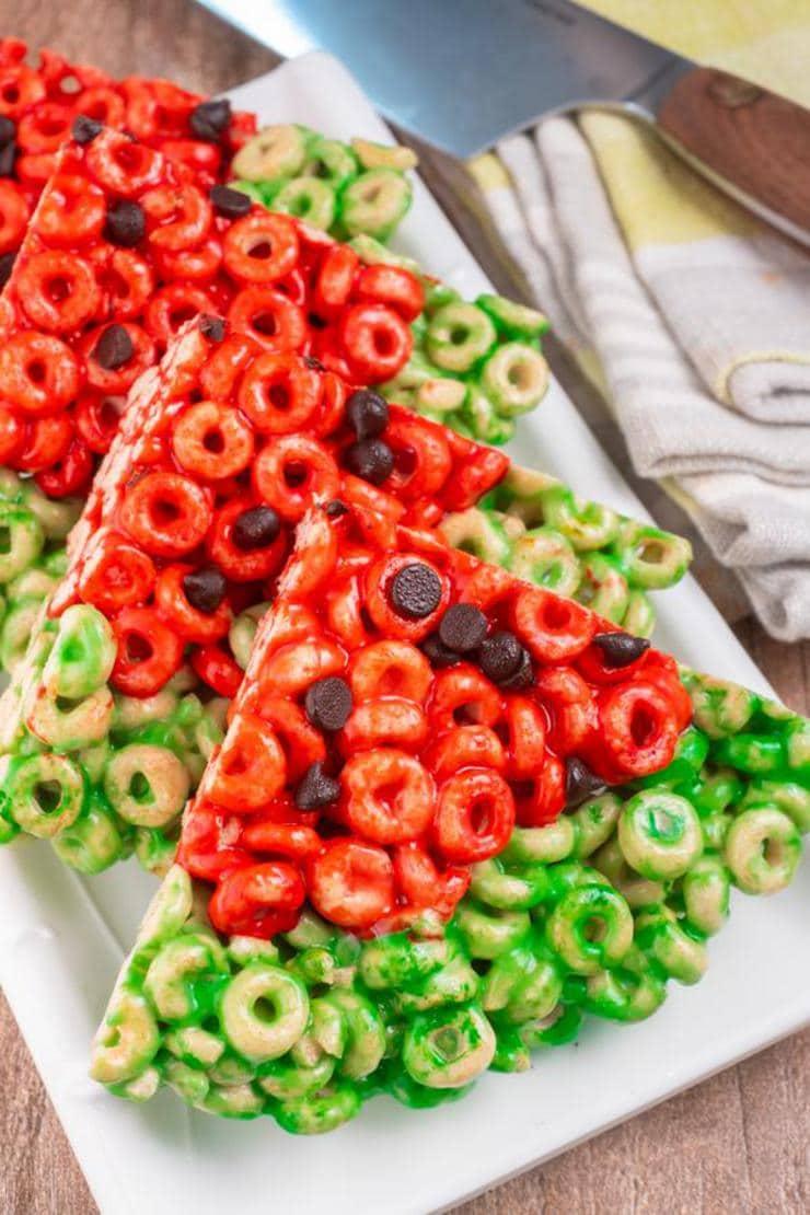 Easy Watermelon Cheerio Treats