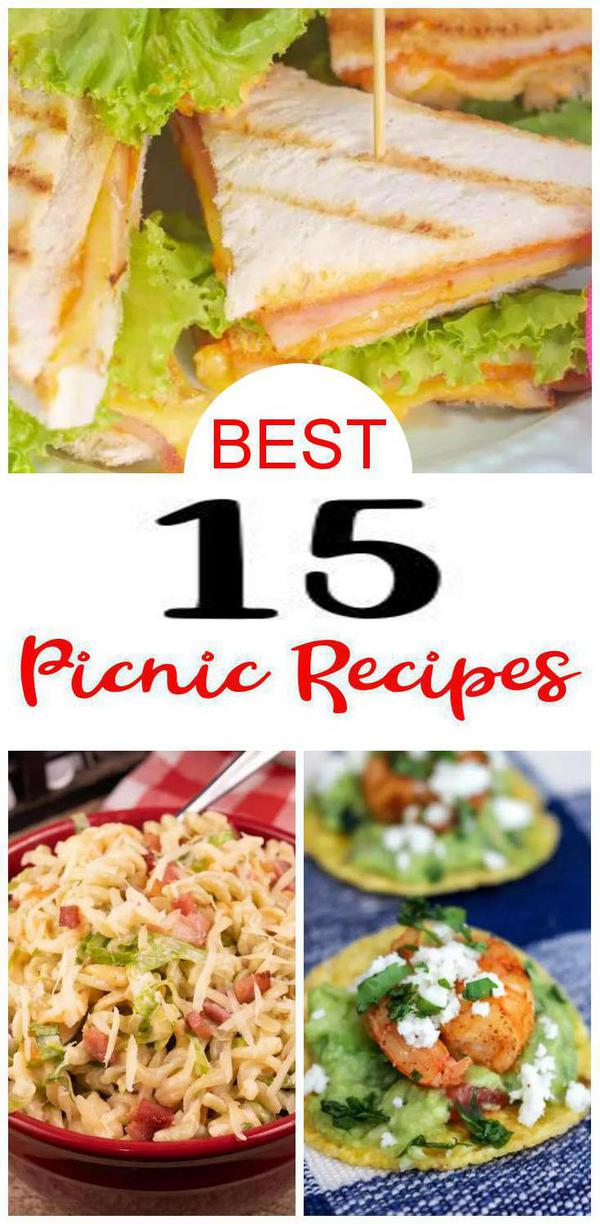 BEST 15 Picnic Food Recipes {Easy} Picnic Ideas Everyone Will Love