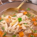 Easy Crockpot Chicken Noodle Soup – Best Homemade Soup Recipe – Slow Cooker Dinner – Comfort Food – Quick – Simple