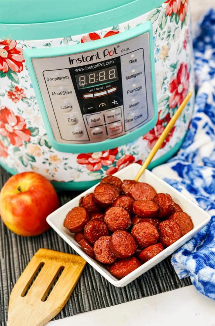 Easy Instant Pot Apple Kielbasa Bites